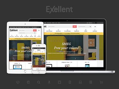 Exellent online shop icons exellent site website