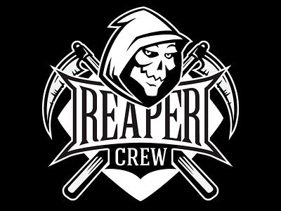Reaper Crew grim reaper scythe reaper baseball softball sport logo
