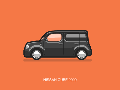 Nissan Cube illustration car cube nissan