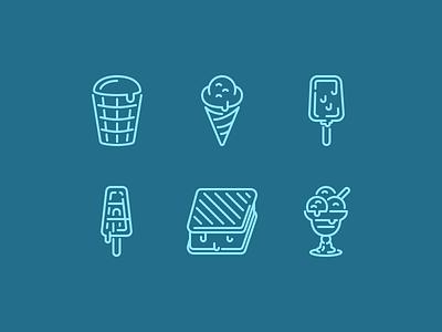 Freeze ice cream dessert
