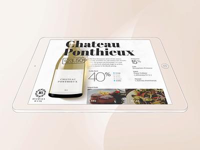 Wineshelf wine typo typography bottle interface ipad scetch brush