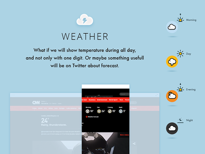 Redesign of CNN video experience redesign concept weather icon icons cnn typography