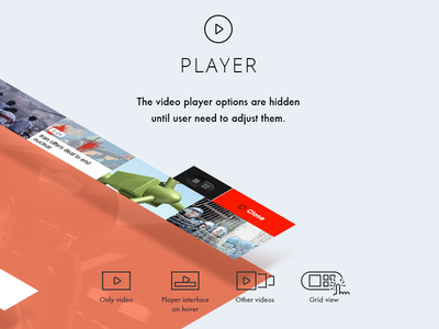 Player ideas for CNN redesign typography icon icons cnn redesign concept player isometric