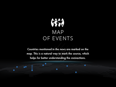 Map of Events stars star case cnn map