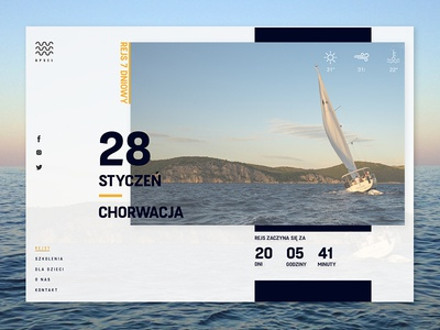 Cruises website sketch apsel layout swiss ux ui website