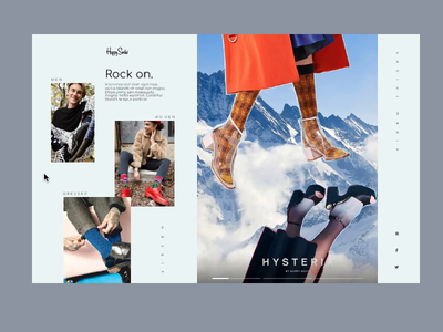 Happy Socks Website Concept scroll hover motion lifestyle media social fresh mordern clean layout instagram design ui ux mobile desktop socks happy ecommerce divante