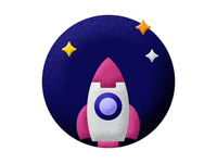 Rocket icon animation