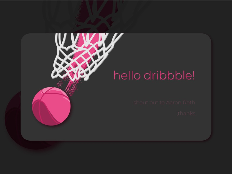 Hello Dribbble! concept ui aaron roth hello dribble