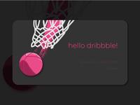 Hello Dribbble! concept ui aaron roth hello dribble