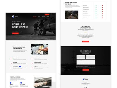 The Dent Trooper Website Design development branding figma web design