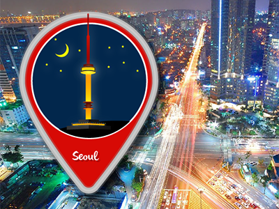 City Icon - My first shot illustrator vector city location seoul illustration first shot icons
