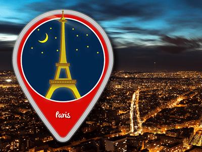 Icon Design Paris illustrator vector city location paris illustration icons