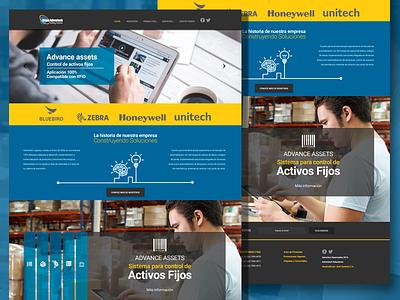 Home page technology css web design service html web development ui figma prototype web design