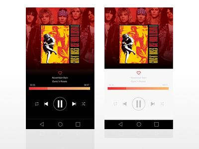 Music player app mobile music playlist play ui music player