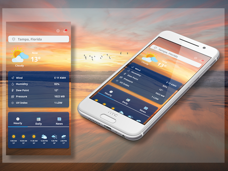 Weather app interface sunrise travel icons mobile ux ui app weather