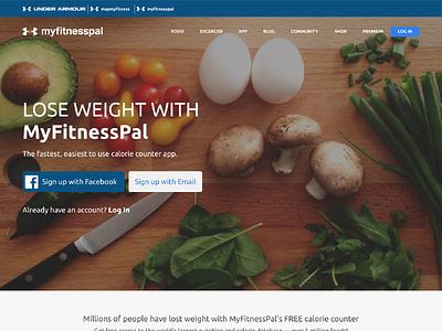 MyFitnessPal redesign food healthy desktop header app ui website fitness