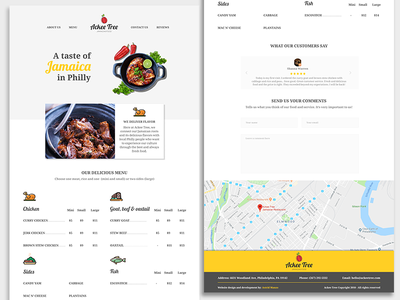 Web design Ackee Tree food ui restaurant website mobile version web design