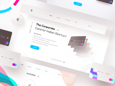 Card web typography clean bitcoin financial bank color logo web illustration design app ui
