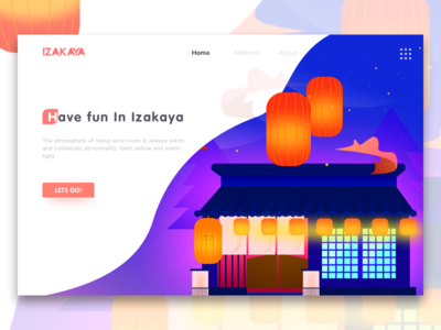 Izakaya color web ui illustration