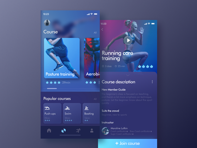 An app about exercise app sports record information exercise color ui