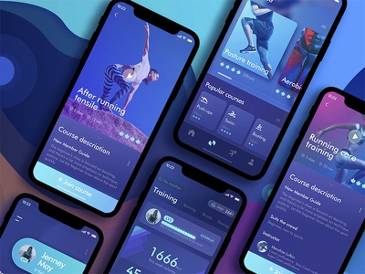 App about exercise record sports exercise design app sketch ui color