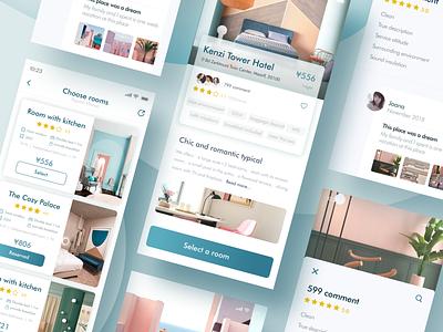 Hotel booking part screen hotel booking hotel app color design app ui