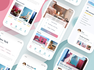 Hotel booking - 2 hotel booking hotel color app ui