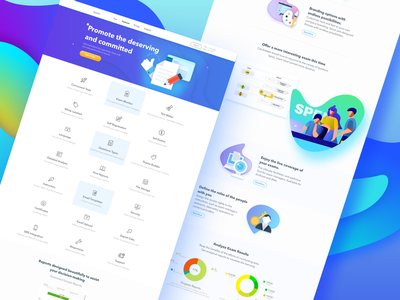 Online Exam Software -2 online software interface exam blue design ux ui web