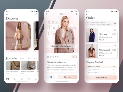 Find the outfit you like fashion match dress clothes app design ui color