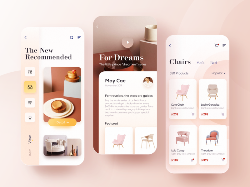 CHOME - 2 ue goods household home sketch fashion design app color ui