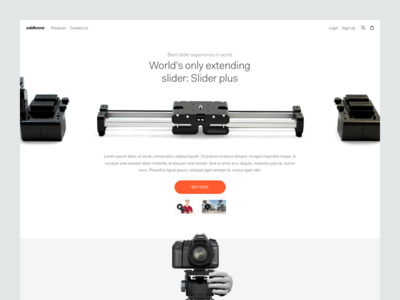 Edelkrone Product Page redesign page product detail