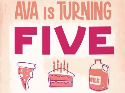 Ava's Birthday Invite v5