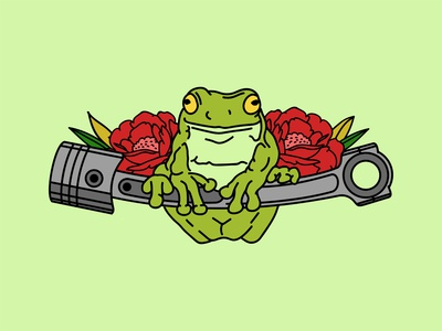 Frog Machine With Flower