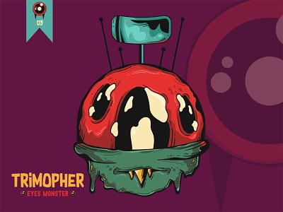 Trimopher - Eyes Monster Edition design character design monsters digitalart artist illustration popart artworks