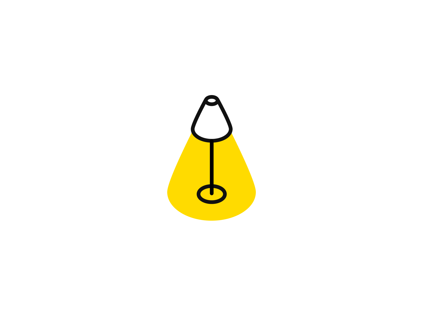 A simple little lamp illustration for an IKEA project.