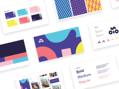 Brand book overview for Solo visual identity visual design palette pattern typography app template templates brand guideline brand book visual identity logo branding