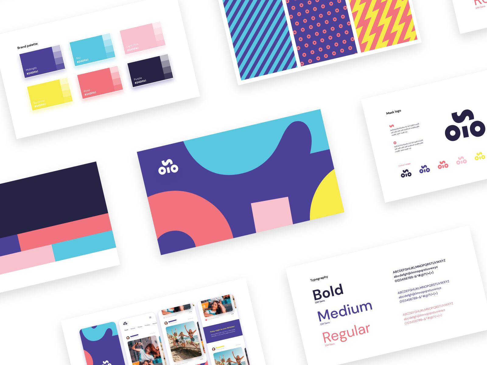Brand book overview for Solo visual identity