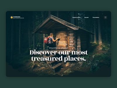 Swedish National Parks website clean ui parallax video player footer header copenhagen scandinavia scandinavian sweden national park map nature clean website ux design ui