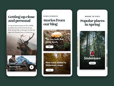 Swedish National Parks Mobile Experience blog mobile blog revolt scandinavian copenhagen app mobile app design mobile design mobile app mobile ui mobile nature national park map ui design