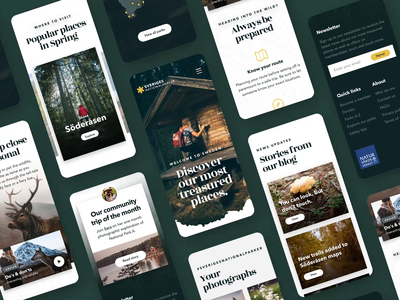 Swedish National Parks Mobile Experience blog mobile blog revolt scandinavian copenhagen app mobile app design mobile design mobile app mobile ui mobile nature national park map ui design