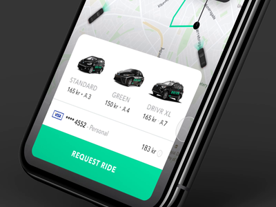 DRIVR Ride-sharing app ux design mobile application design uber design denmark mobile ui app design lyft ride sharing ride share uber drivr app
