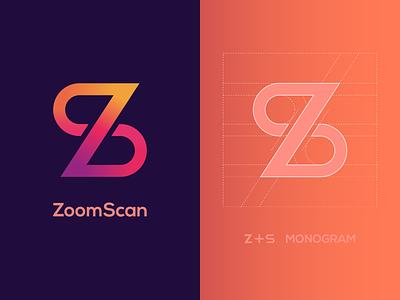 ZoomScan Logo Design - ( Letter Z + S ) Monogram. branding brand identity logo inspiration logo designer logo presentation modern logo monogram logomark mark monogram logo sz logo zs logo s letter logo s logo z letter logo z logo zoom logo zoomscan logo