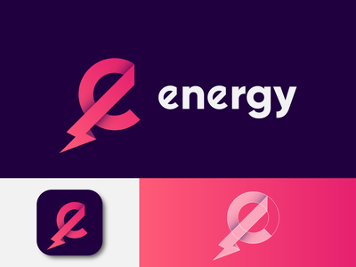 energy Logo Design ( Letter 'e' + energy ) solutions idea bulb modern logo app logo logotype graphic design app icon logo design brand design branding service app company logo charge battery e energy logo e logo flash logo power logo energy logo