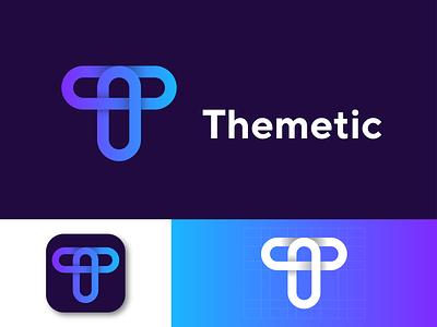 Themetic Logo Design animation ui icon marketing graphic  design logotype digital app branding brand design logo presentation app logo graphic design modern logo logo designer logo design design logo