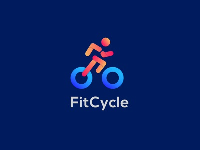 FitCycle Logo Design ( Fitness + Wheel ) fast run cycle run running app human icon app fitness logo wheel cycle logotype design logo app logo minimalist logo logo inspiration logo designer logo design modern logo branding