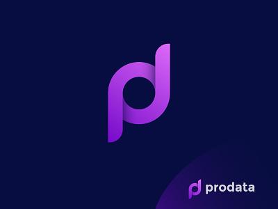 prodata logo design brand design gradient purple logo pro logo prodata pd monogram monogram logo pd logo d logo p logo logotype minimalist logo graphic design icon app logo logo designer logo design modern logo brand identity branding