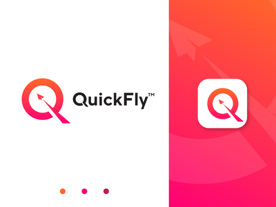 QuickFly Logo Design ( Q letter + Ply icon ) paper plane airplane flight logo rocket logo earth planet plane q flight logo flight q logo minimalist logo logo mark graphic design logo presentation brand design logotype logo inspiration modern logo brand identity branding