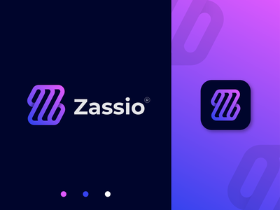 Zassio Logo Design product ui print mobile logo marketing logo construction gradient z logo letter z mark graphic design brand design logotype minimalist logo logo inspiration logo design modern logo brand identity branding