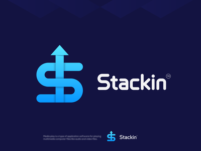 Stackin Logo ( Letter S + Arrow ) ui logo design design logotype logo designer coin blockchain crypto gradient logo s arrow logo s logo arrow logo illustration logo inspiration modern logo brand identity branding logo