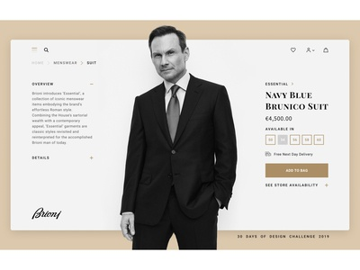 DAY #04 / Brioni Product Page